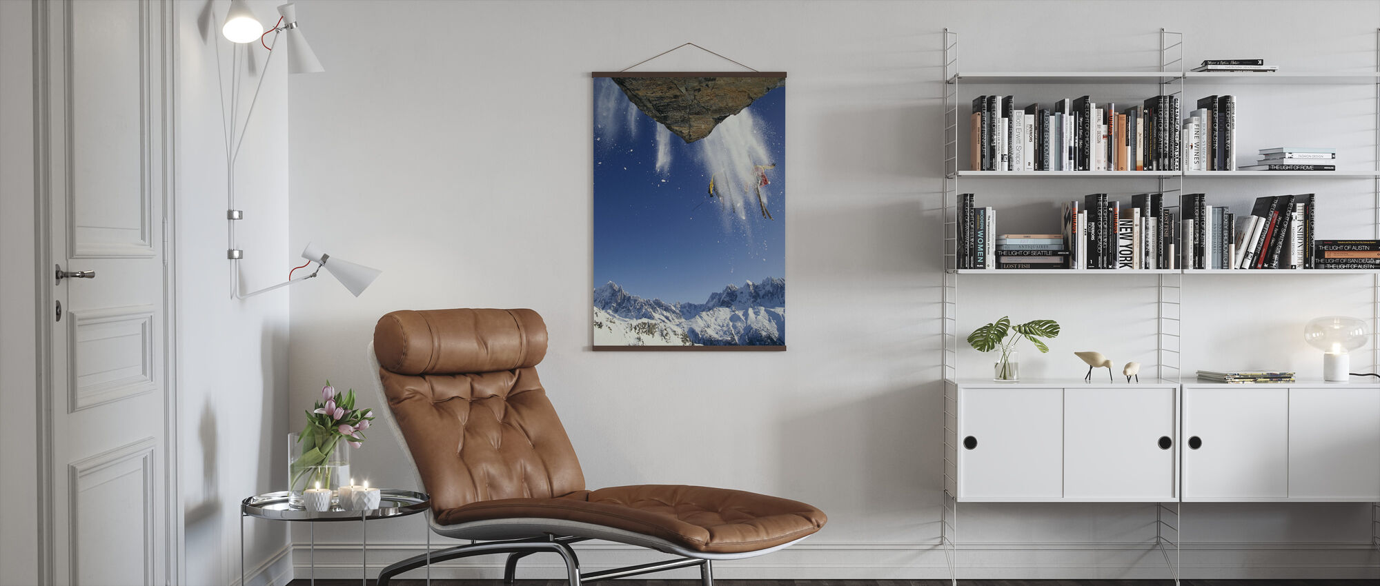 Off Piste Skiing at Mont Blanc - Poster - Living Room