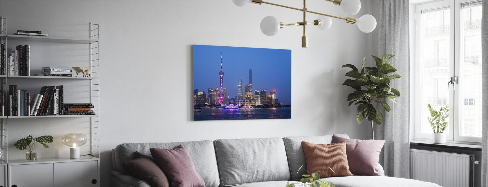 Natudsigt over Shanghai City - Billede på lærred - Stue