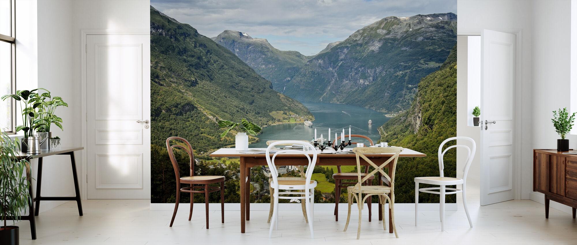 Uitzicht over Geirangerfjord - Behang - Keuken