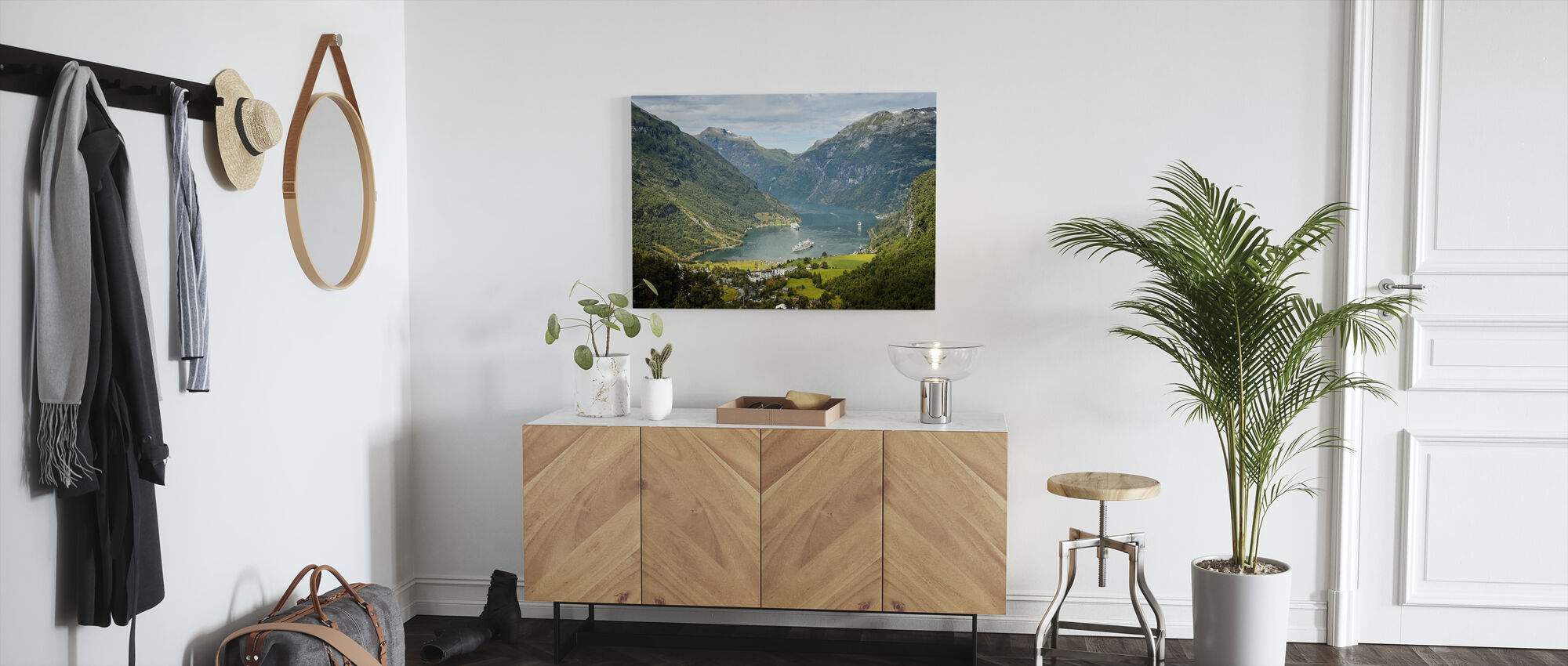 View Over Geirangerfjord - Canvas print - Hallway