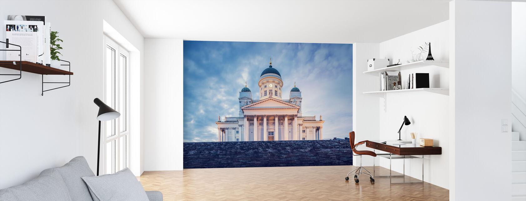Helsingin luterilainen katedraali iltavalossa - Tapetti - Toimisto