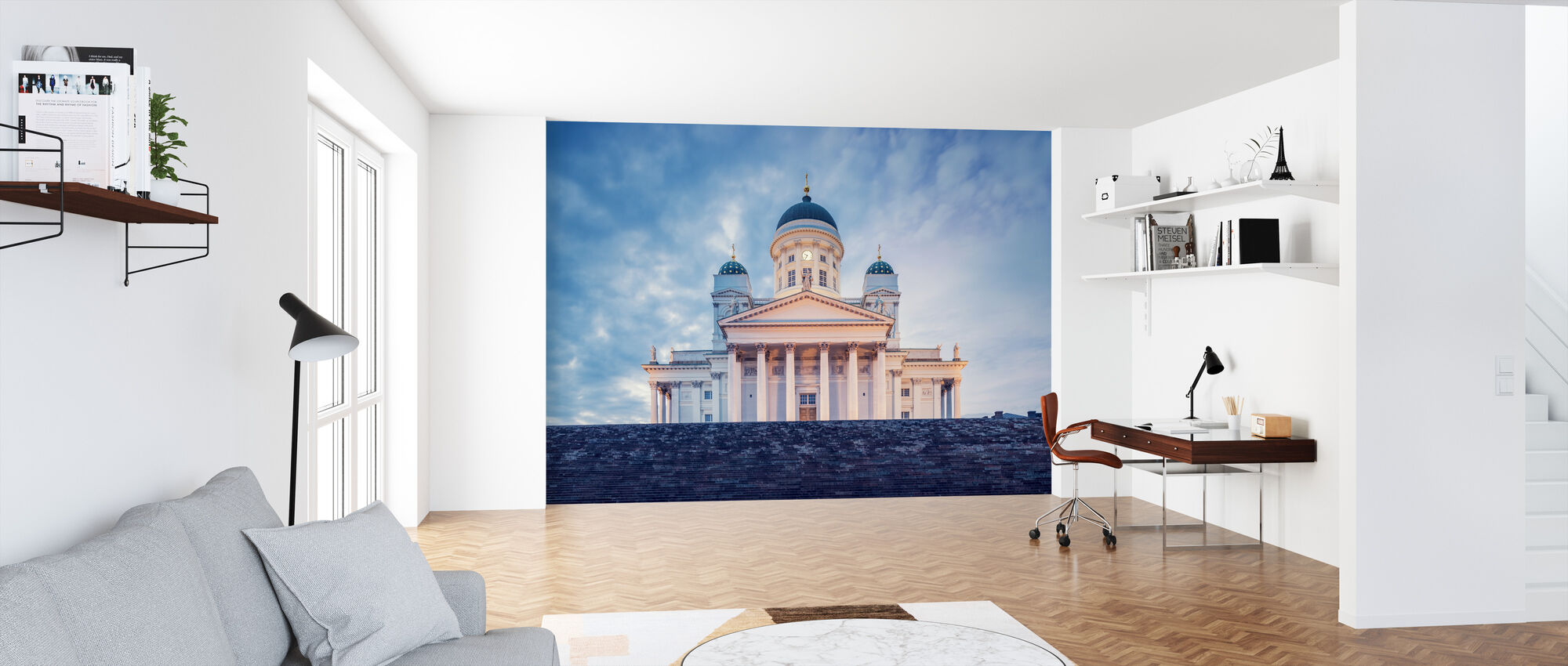 Helsinki Lutheran Cathedral in Evening Light - Wallpaper - Office