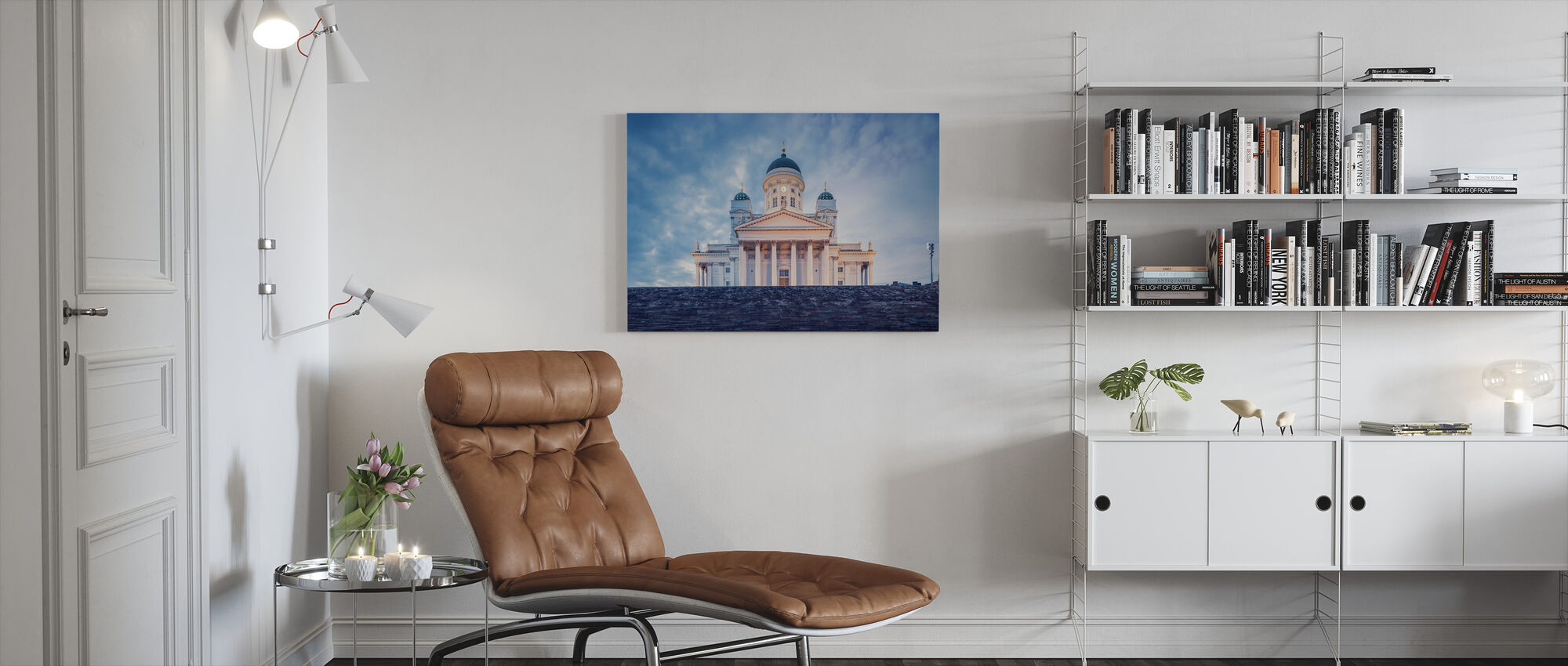 Helsinki Lutheran Cathedral in Evening Light - Canvas print - Living Room