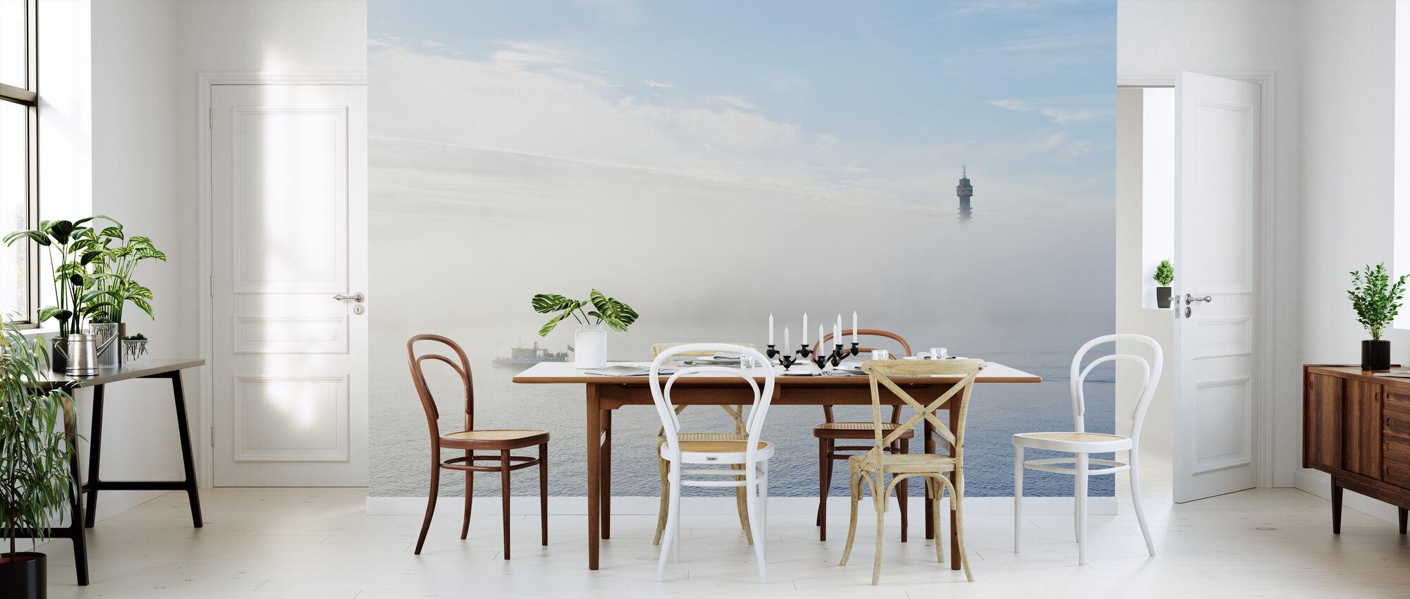 Misty Mañana en Estocolmo - Papel pintado - Cocina