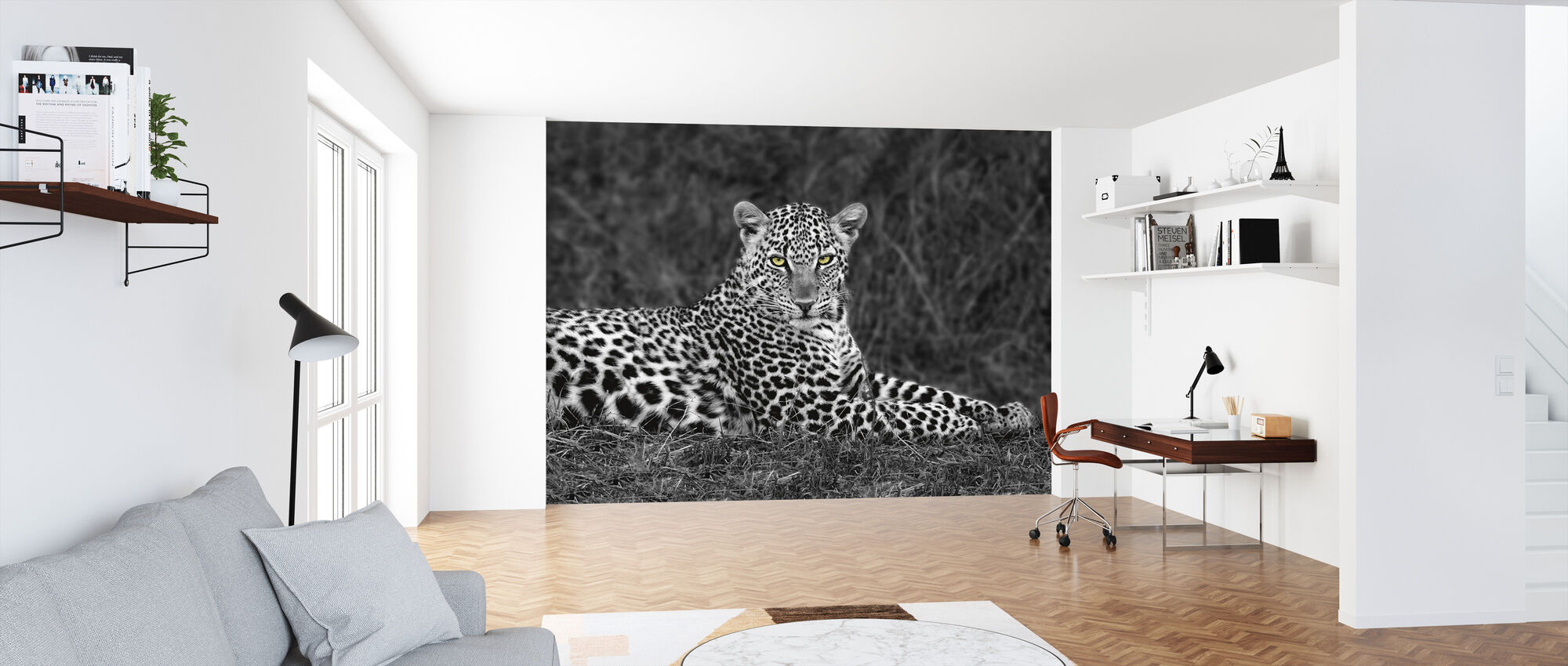 Leopard Portrait - Wallpaper - Office