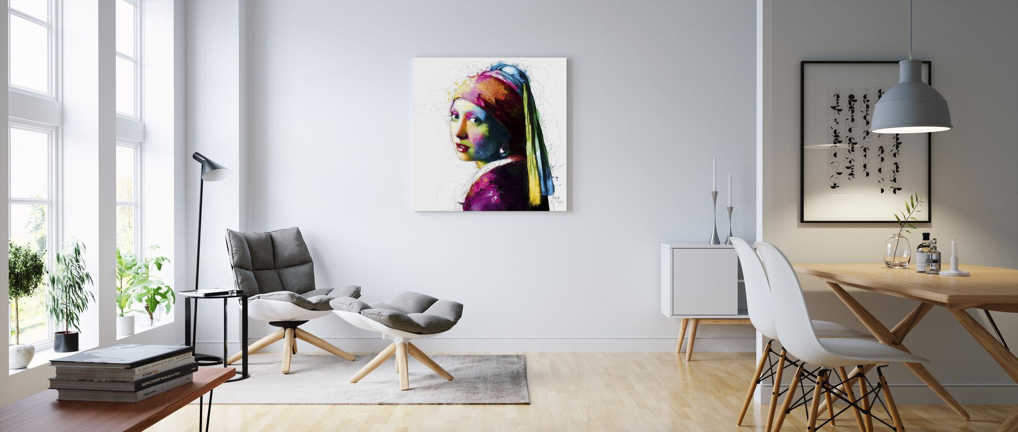 Vermeer Pop - Canvastavla - Vardagsrum