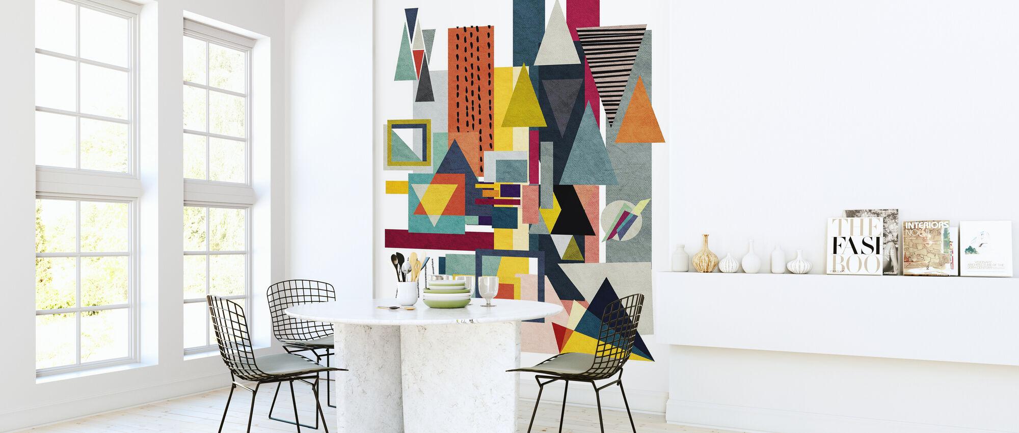 Geometrie - Behang - Keuken