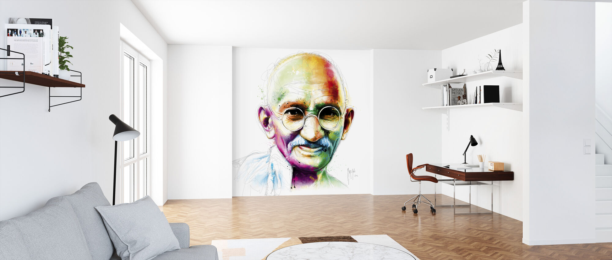 Gandhi - I am Love - Wallpaper - Office