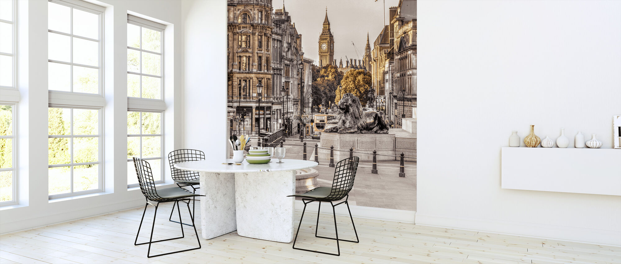 London in Gold - Wallpaper - Kitchen