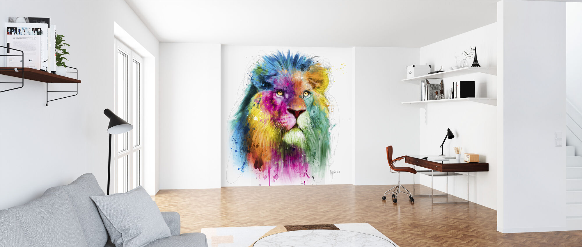 Lion - Wallpaper - Office
