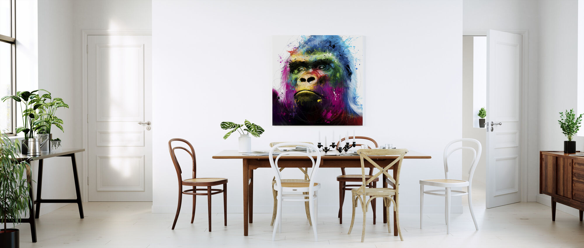 Gorille - Impression sur toile - Cuisine