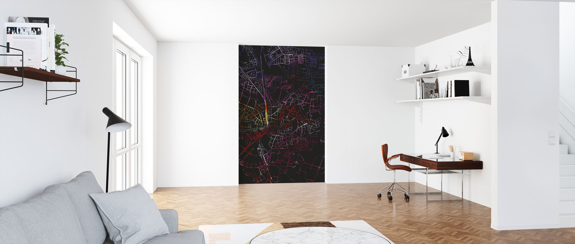 Lund in Sweden - Map - Wallpaper - Office