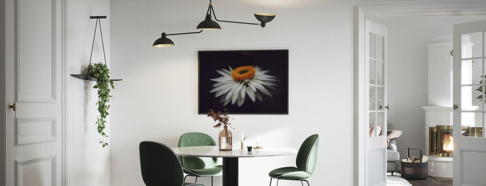 Vergrootglas Bloem - Ingelijste print - Keuken