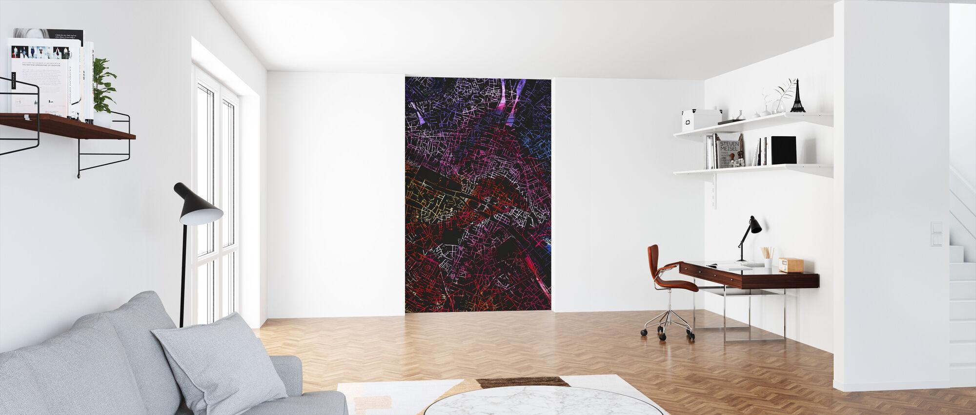 Paris in France - Map - Wallpaper - Office