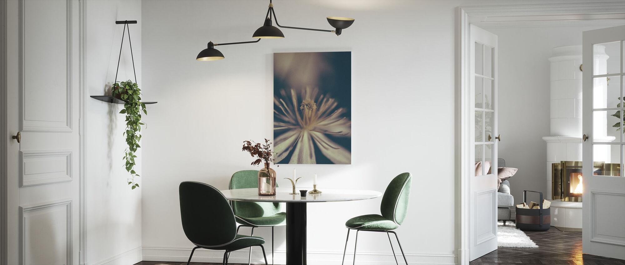 Retro Flower - Canvas print - Kitchen
