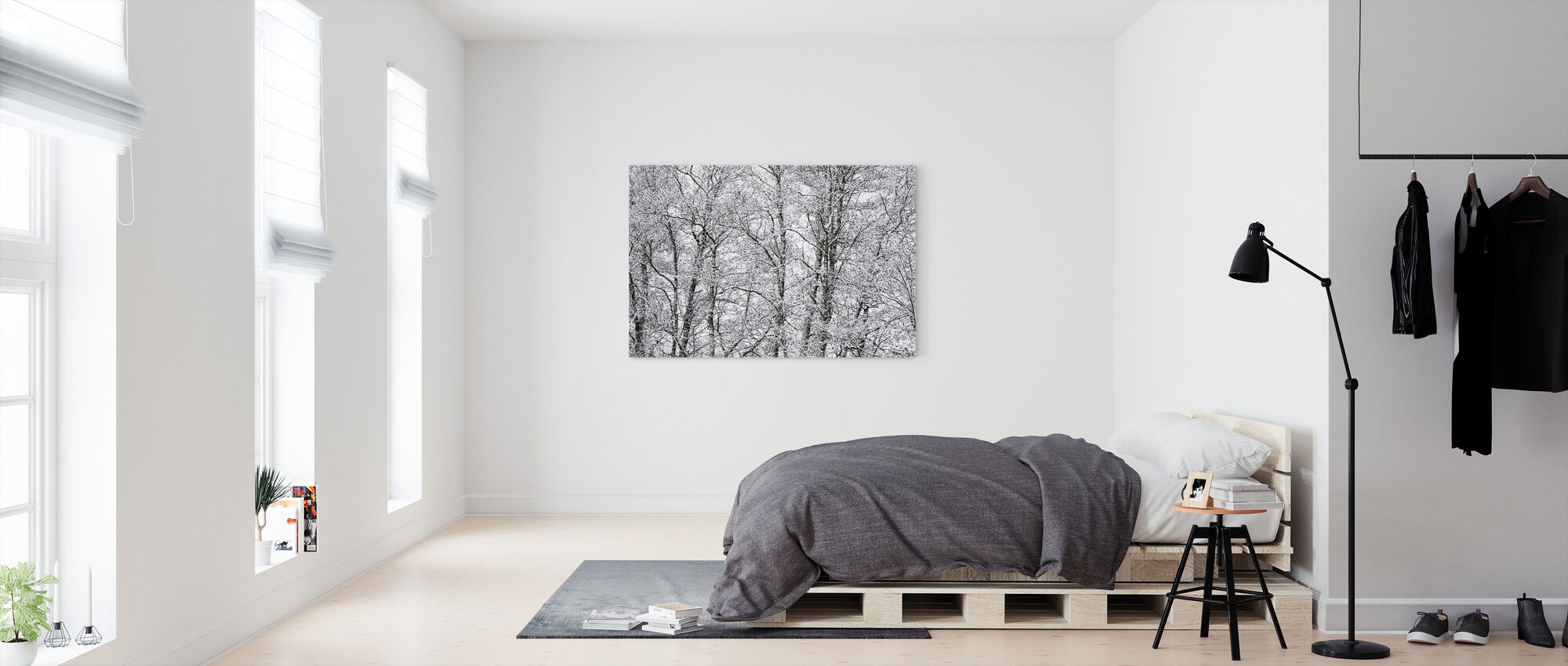 Puut - Canvastaulu - Makuuhuone
