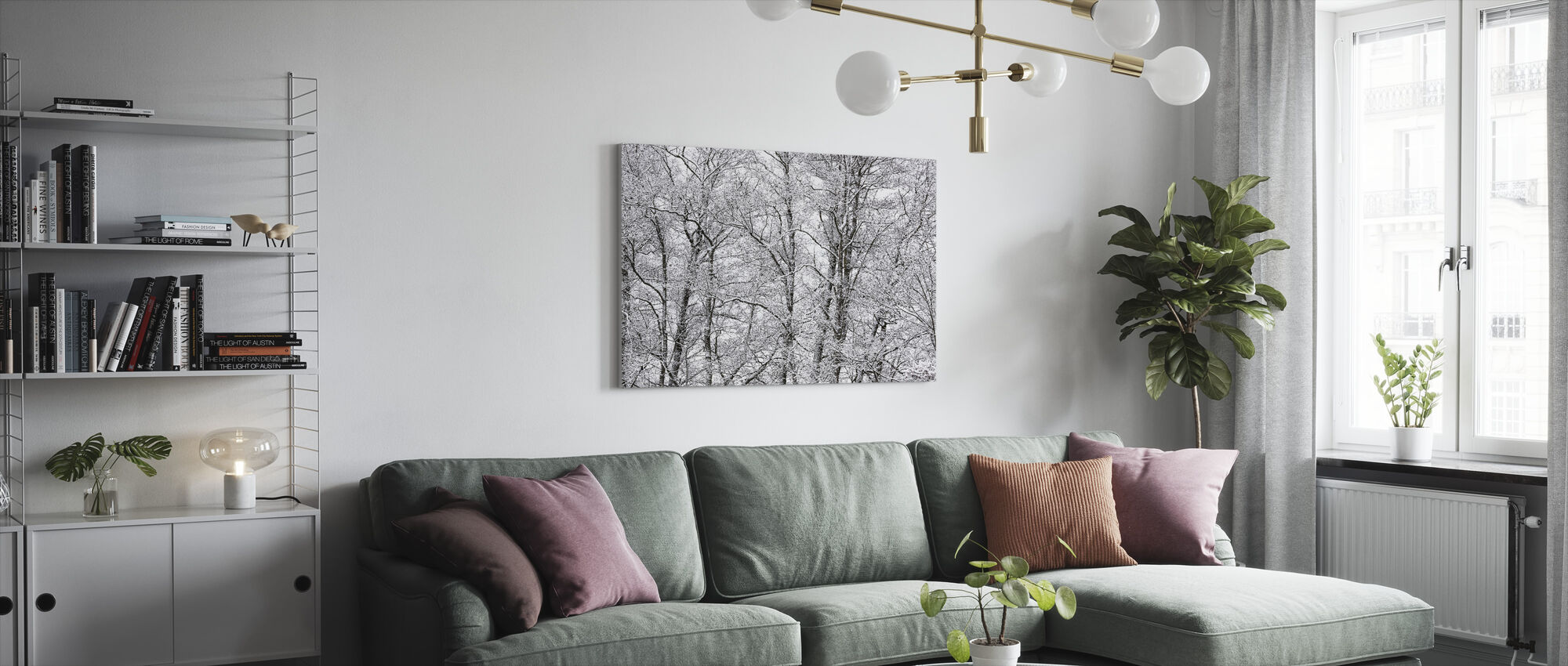 Trees - Canvas print - Living Room