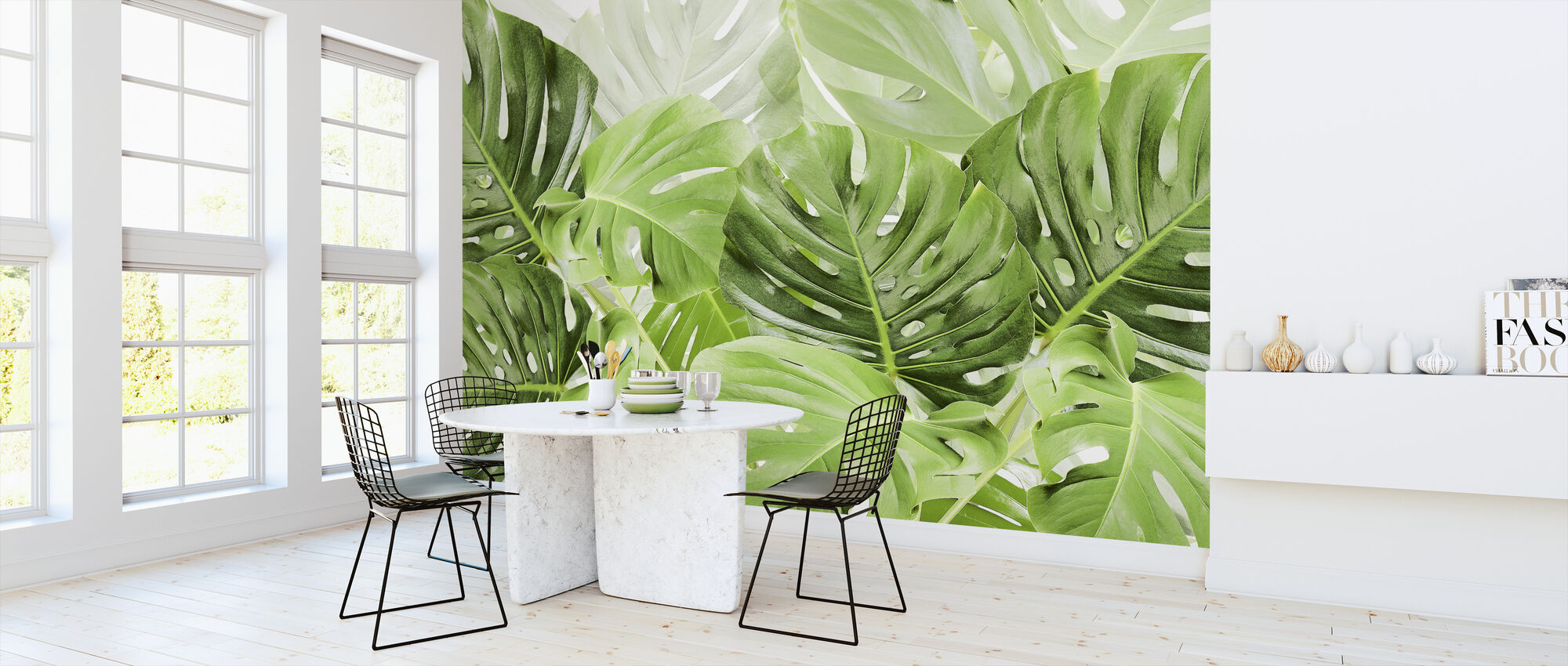Green Leaves Monstera - Wallpaper - Kitchen