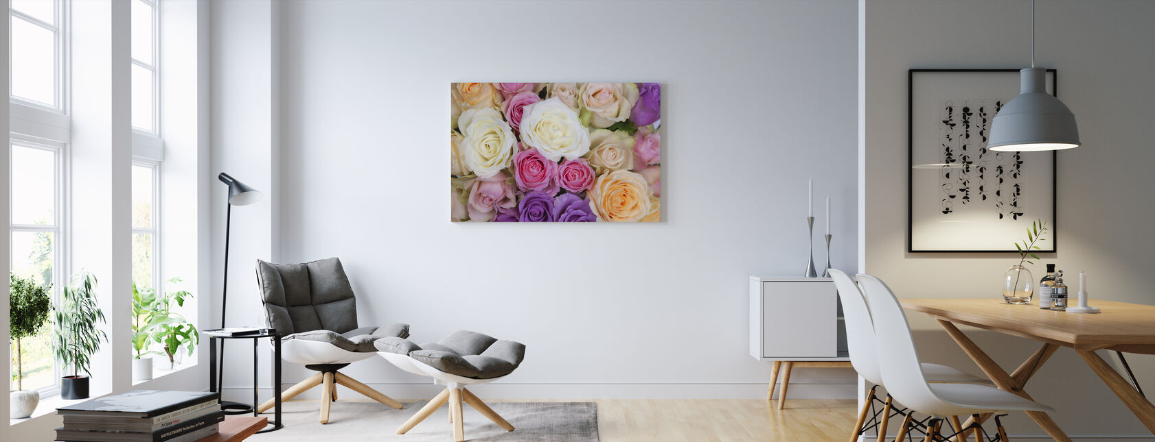 Colorful Roses - Canvas print - Living Room