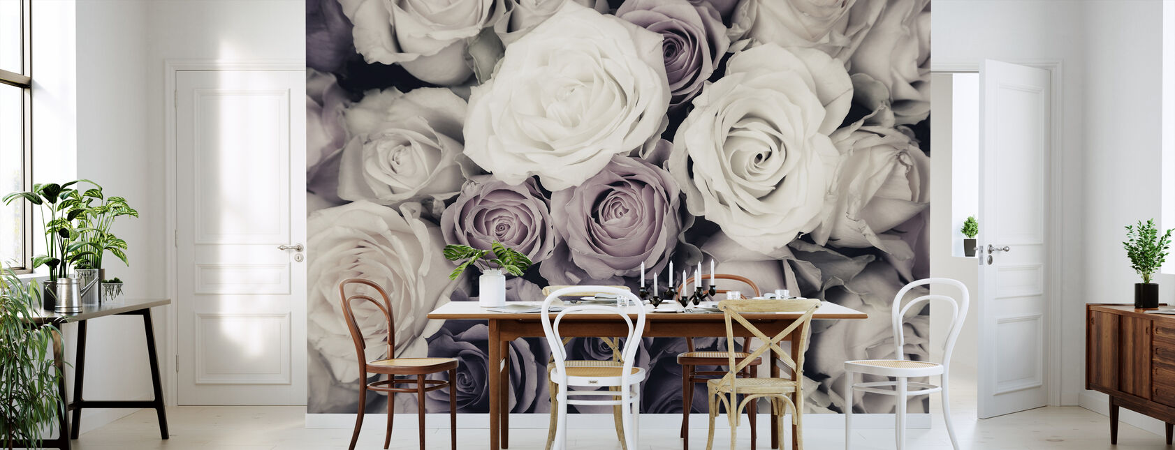 Mörka rosor - Tapet - Kök