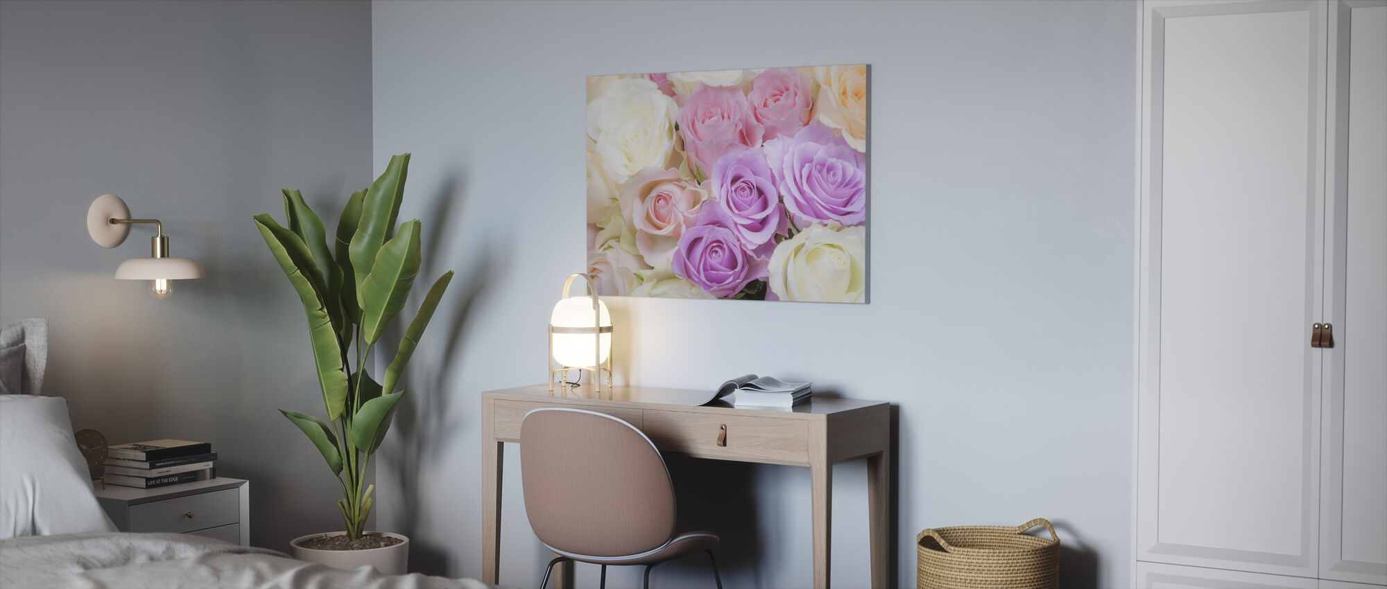 Colorful Roses - Canvas print - Office