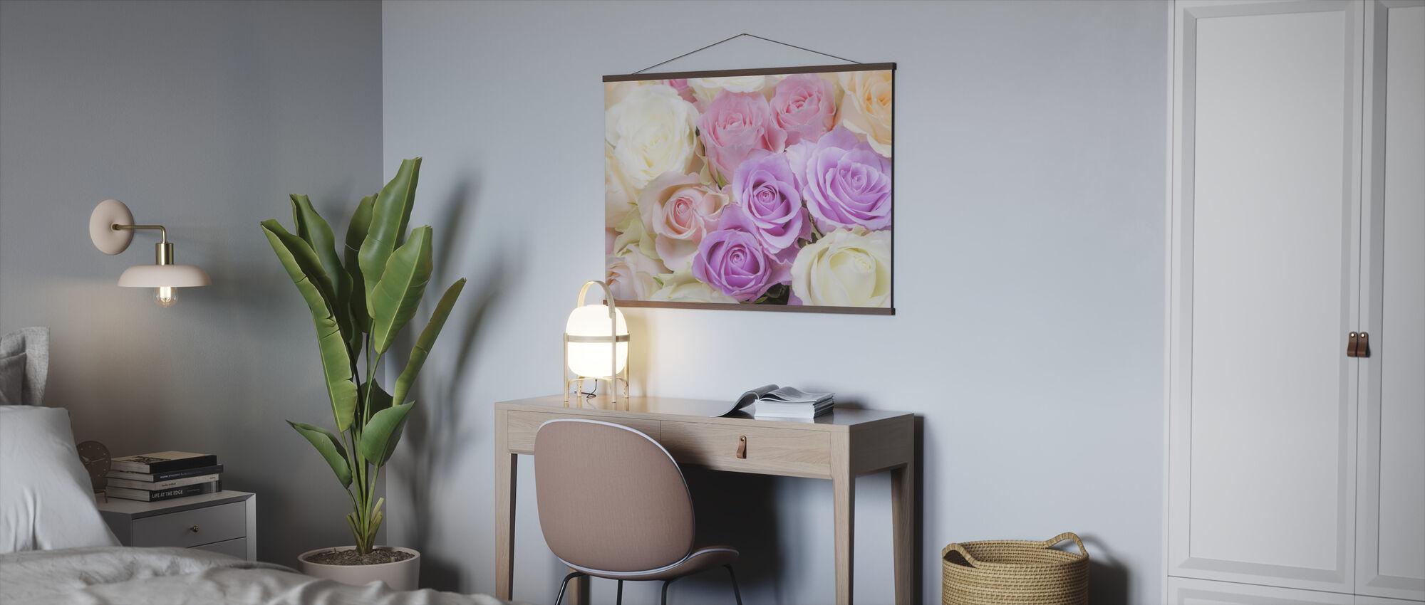 Fargerike roser - Plakat - Kontor
