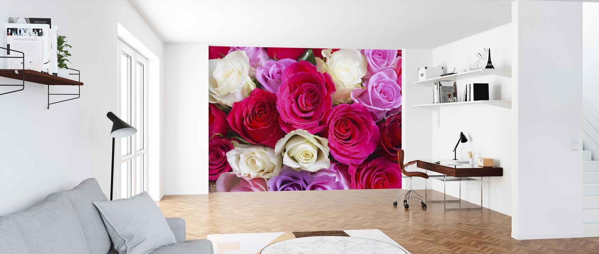 Smukke roser - Tapet - Kontor