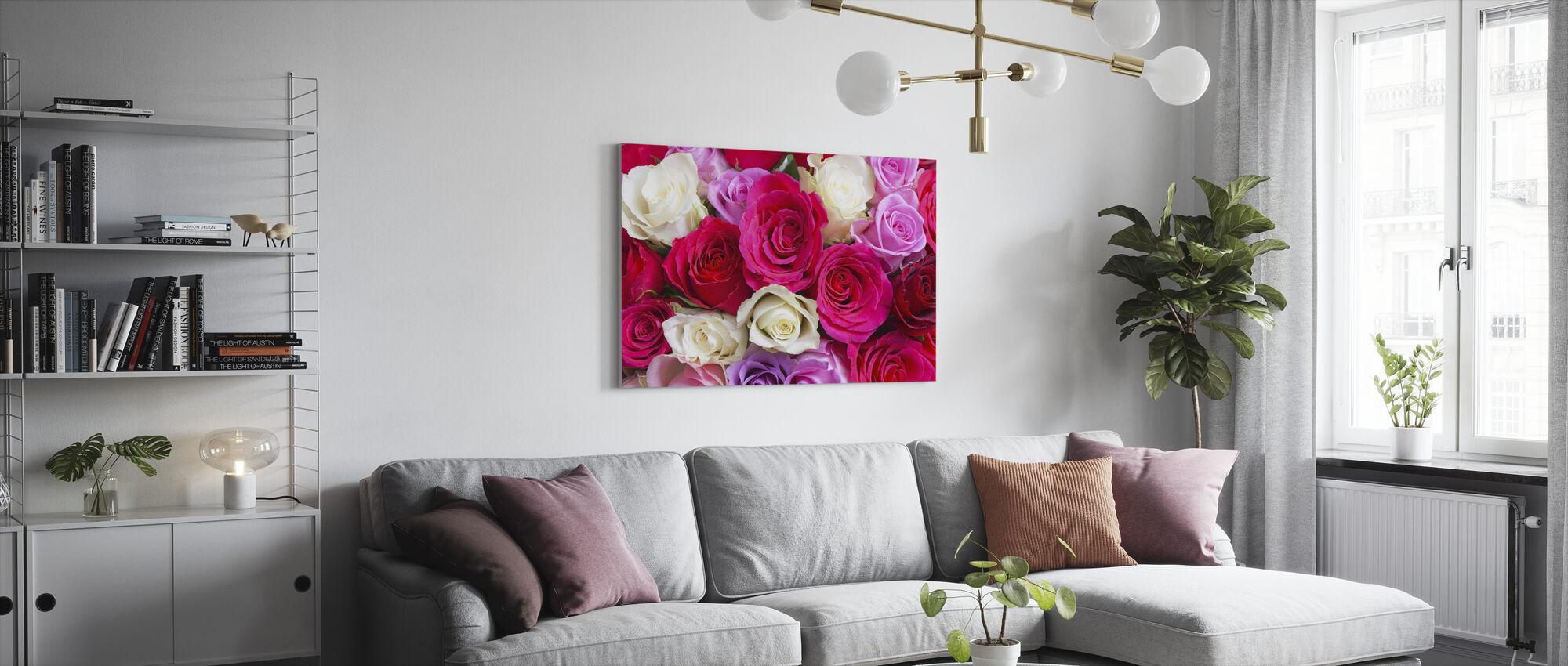 Beautiful Roses - Canvas print - Living Room
