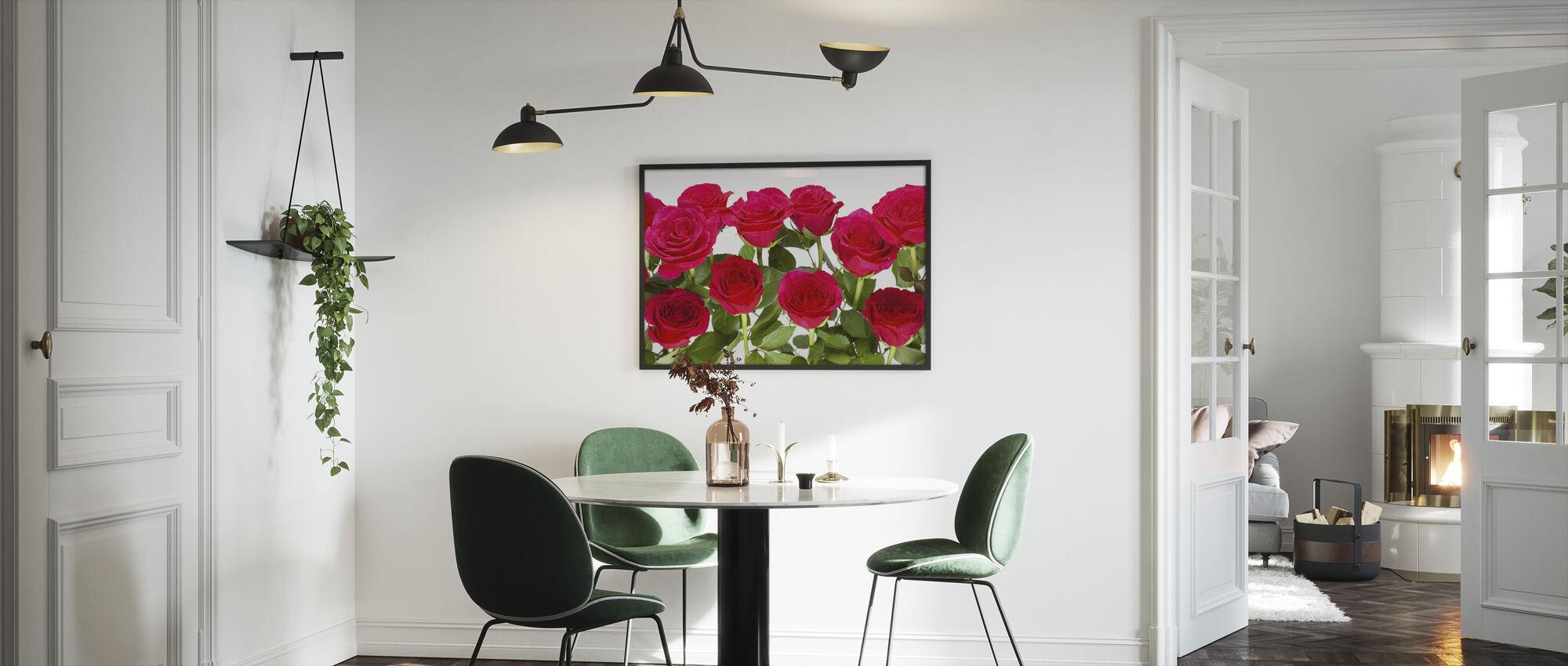 Punaiset ruusut - Kehystetty kuva - Keittiö