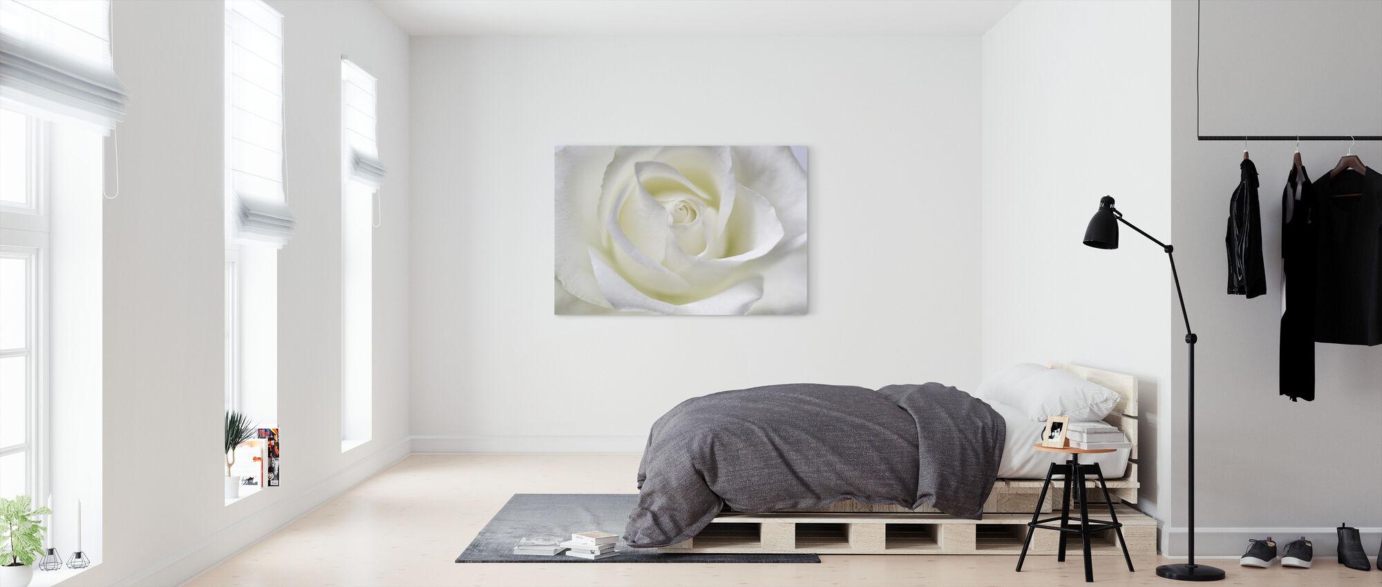 Whtie Rose - Canvas print - Bedroom
