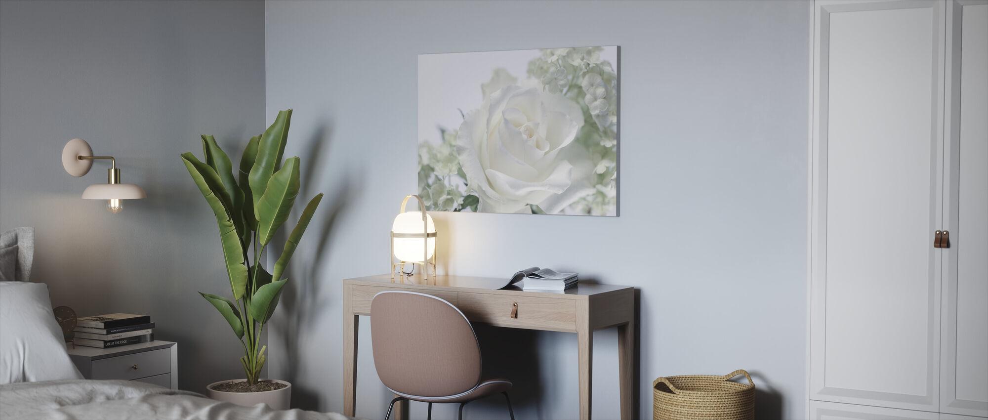 Hvite Rose II - Lerretsbilde - Kontor
