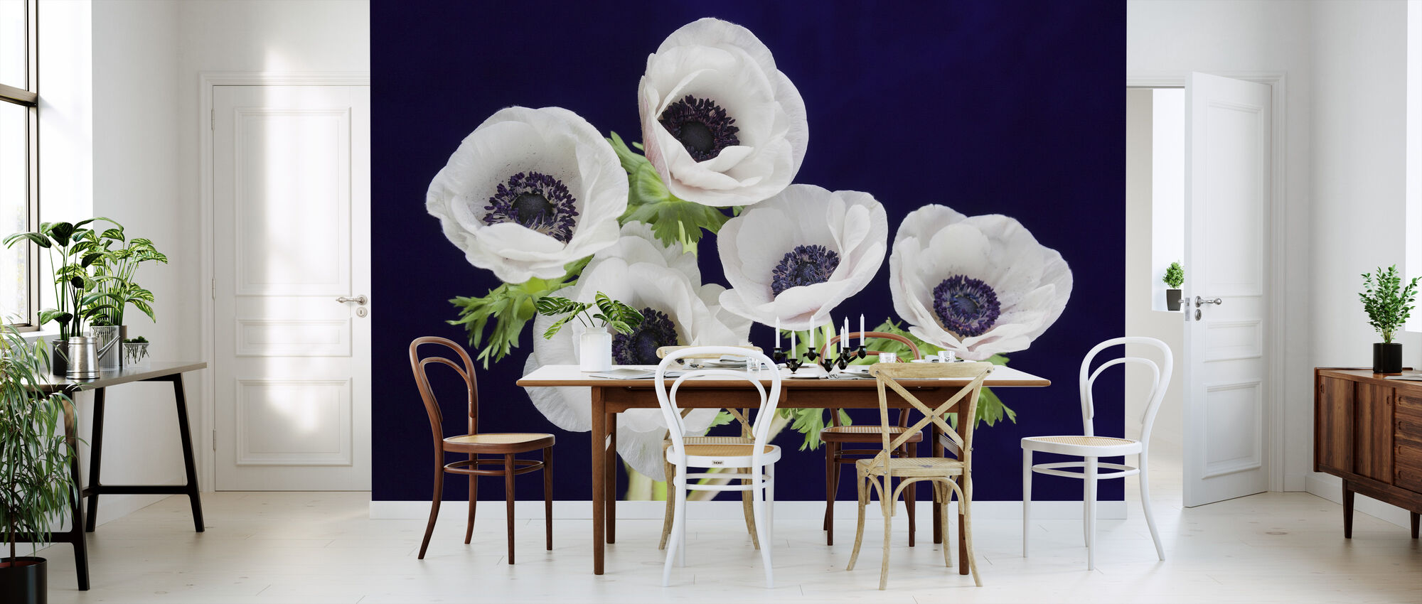 Flower Blooms - Wallpaper - Kitchen