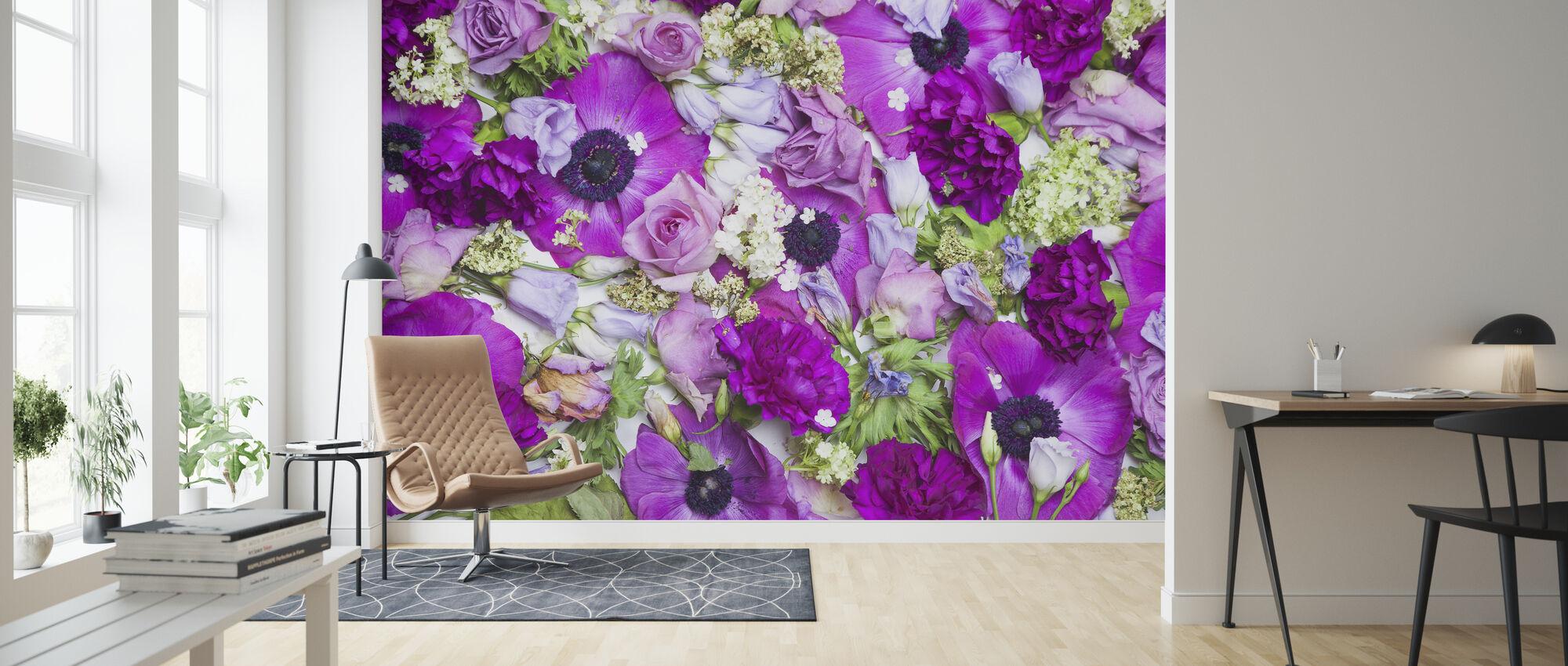 Fresh Flowers - Wallpaper - Living Room