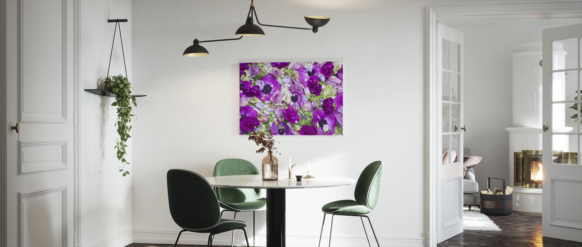 Fresh Flowers - Canvas print - Kitchen
