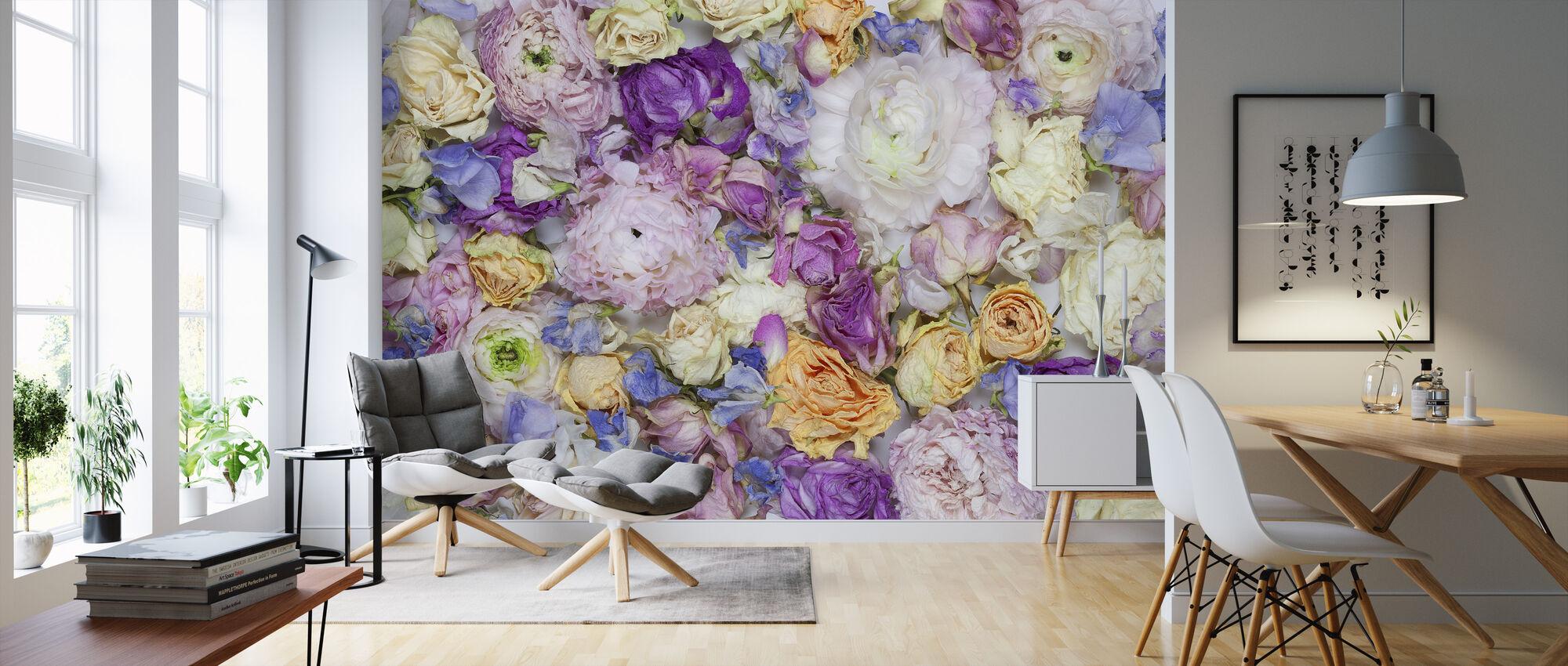 Garden Roses III - Wallpaper - Living Room