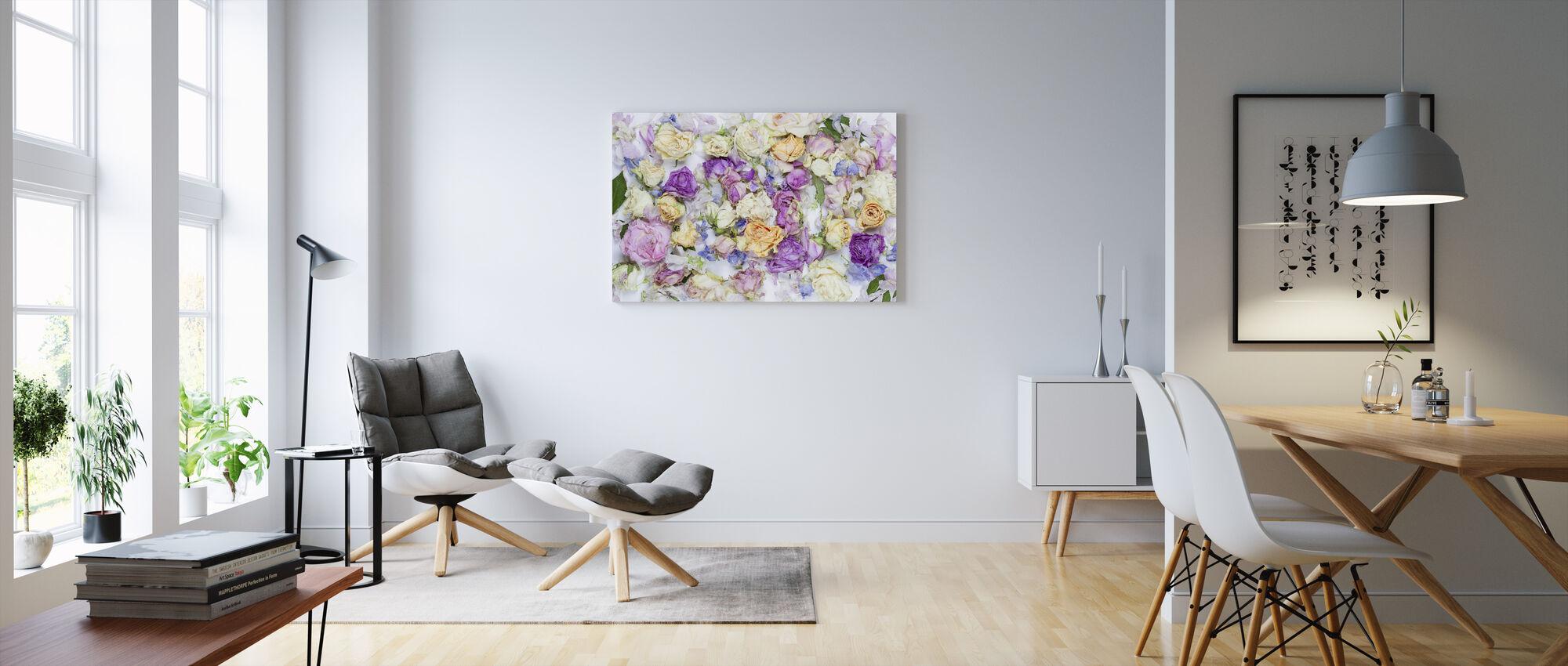 Lovely Flowers - Canvas print - Living Room