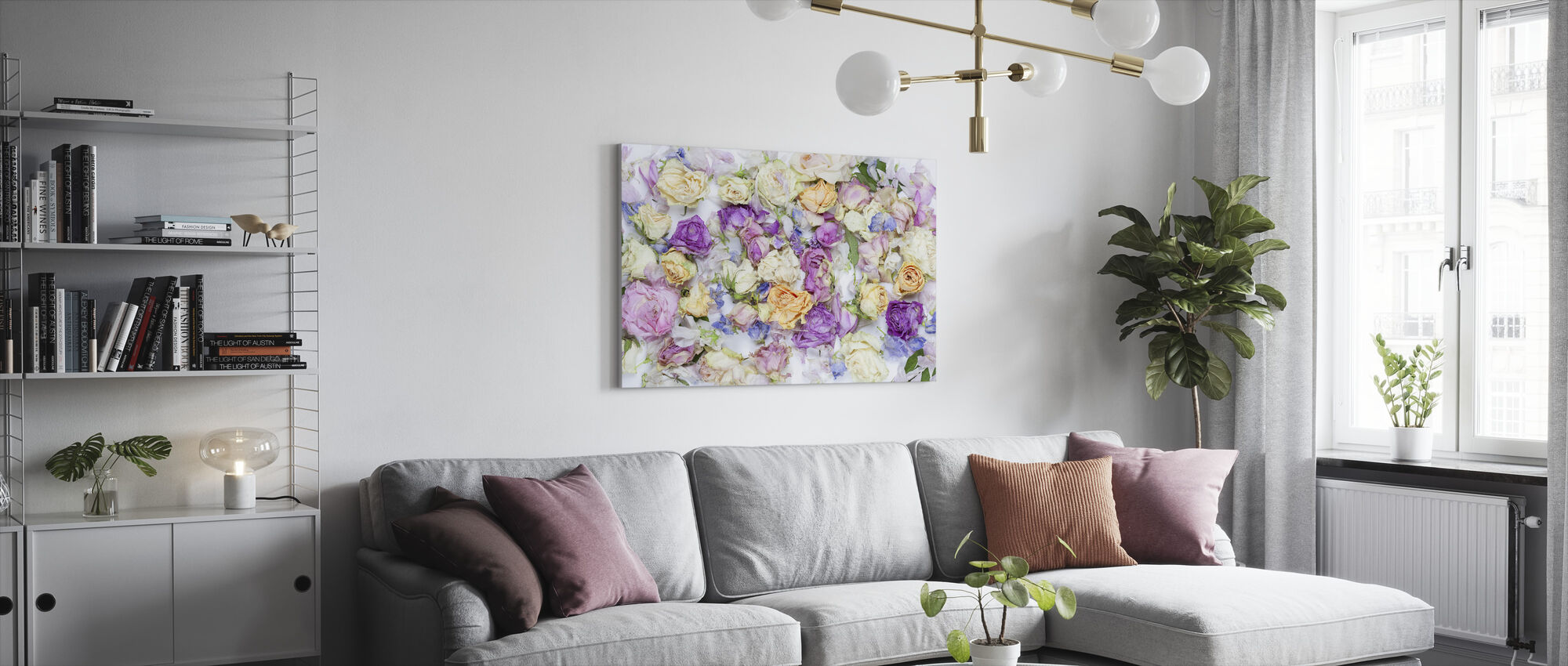 Lovely Flowers - Canvas print - Living Room