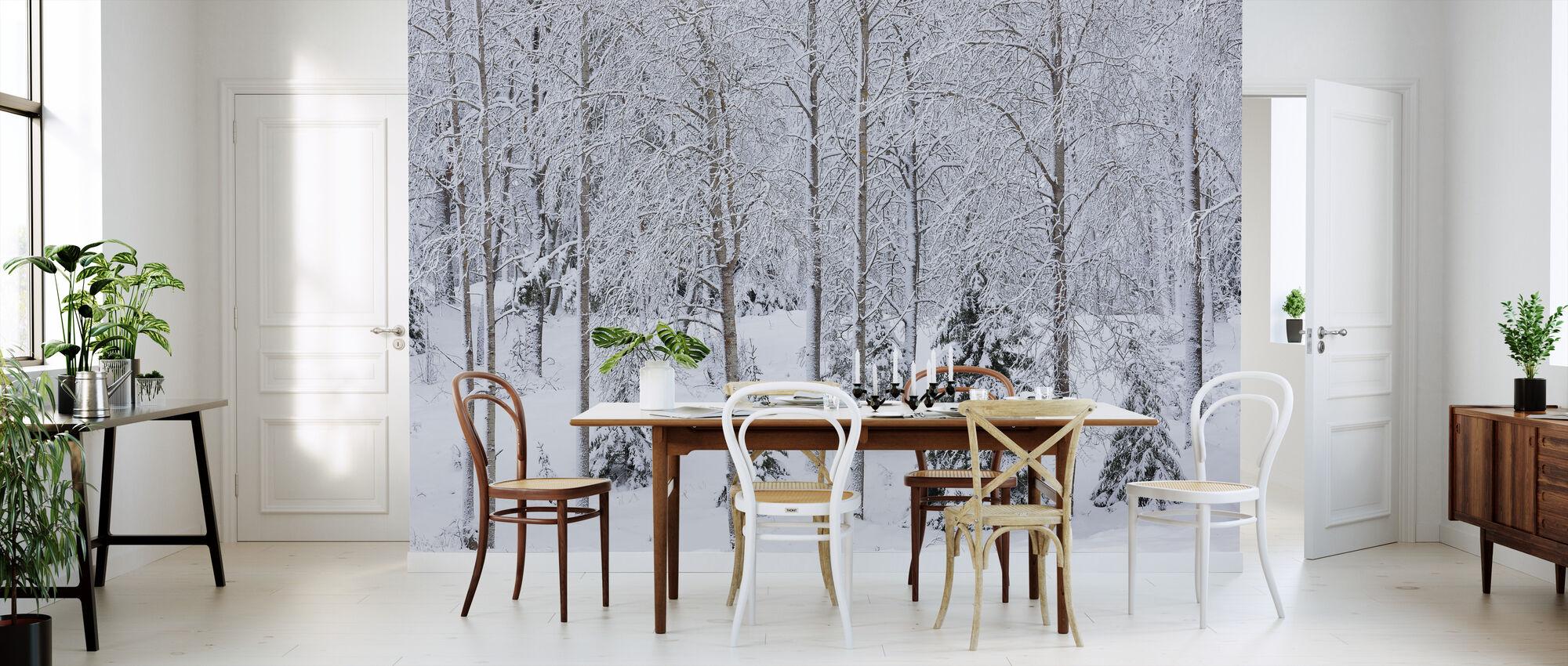Snø i skogen - Tapet - Kjøkken