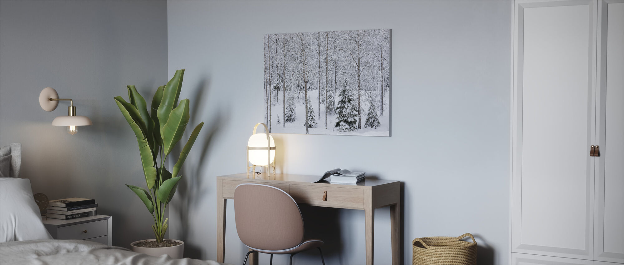 Schnee im Wald - Leinwandbild - Büro