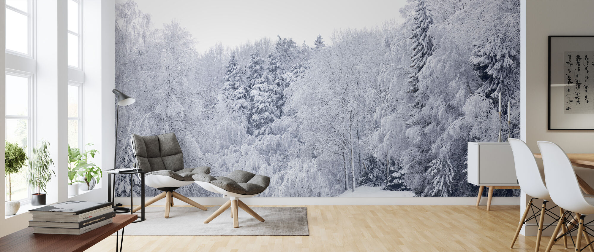 Forest Snow - Wallpaper - Living Room