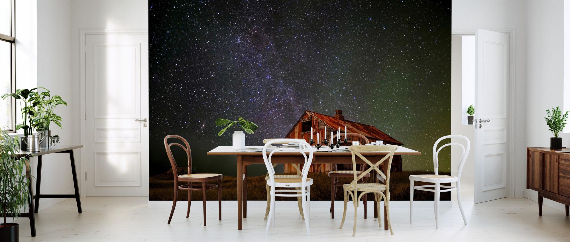 Space hus - Tapet - Kjøkken