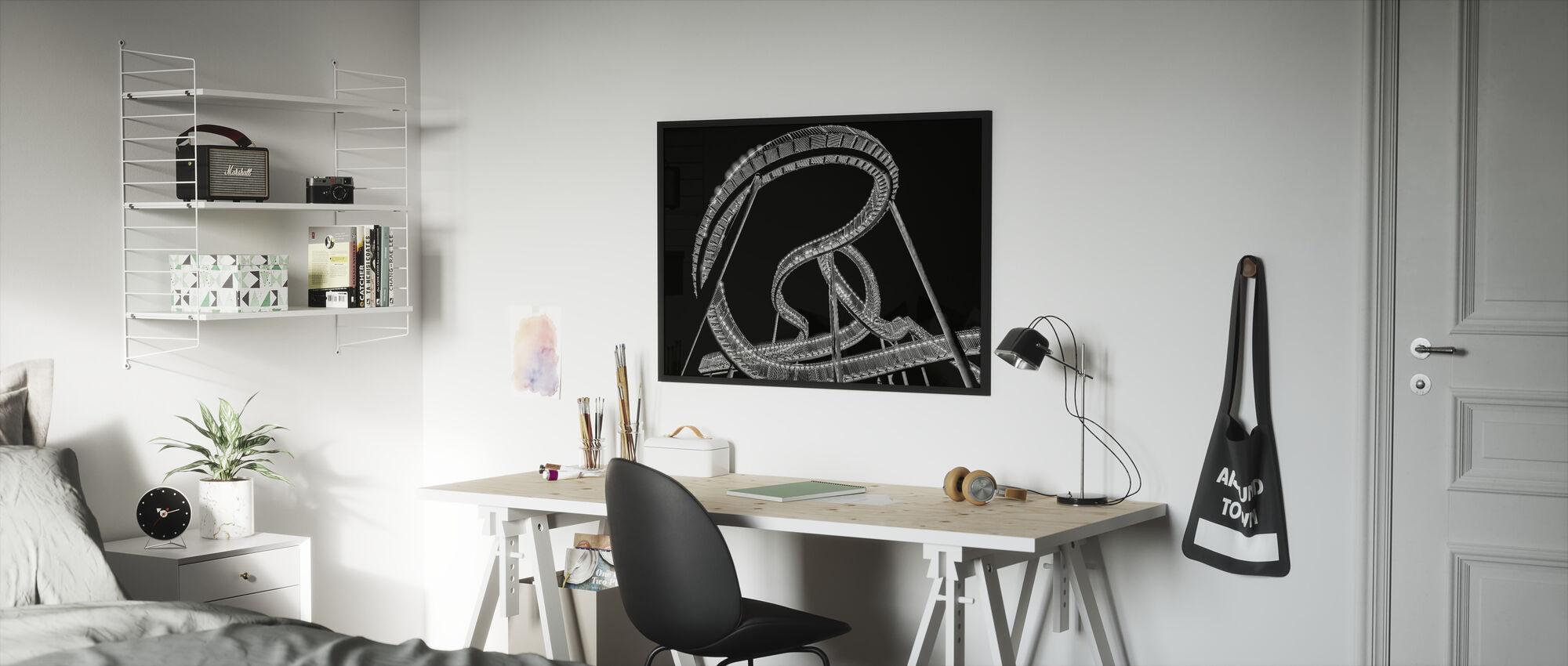Lightsnake - Framed print - Kids Room