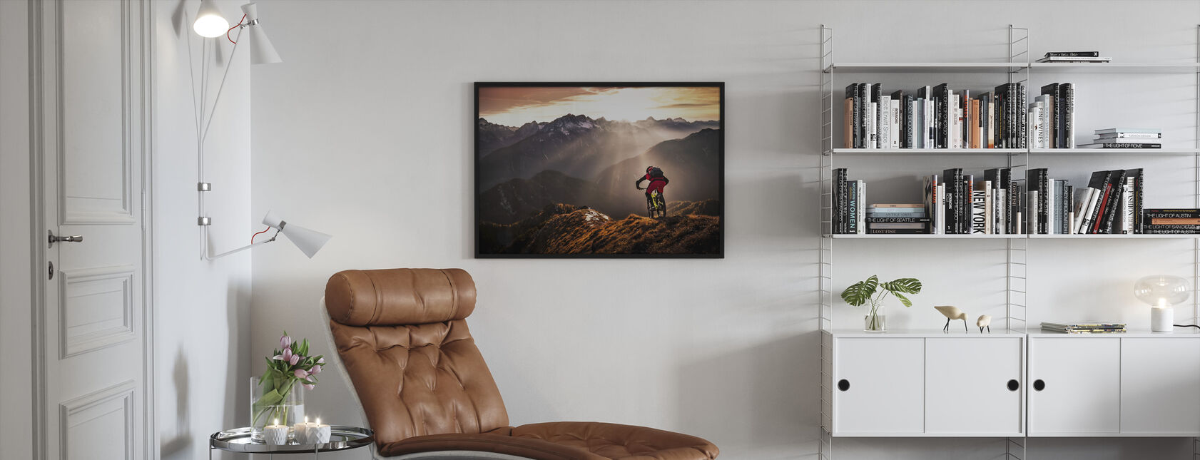 Just Ride - Framed print - Living Room
