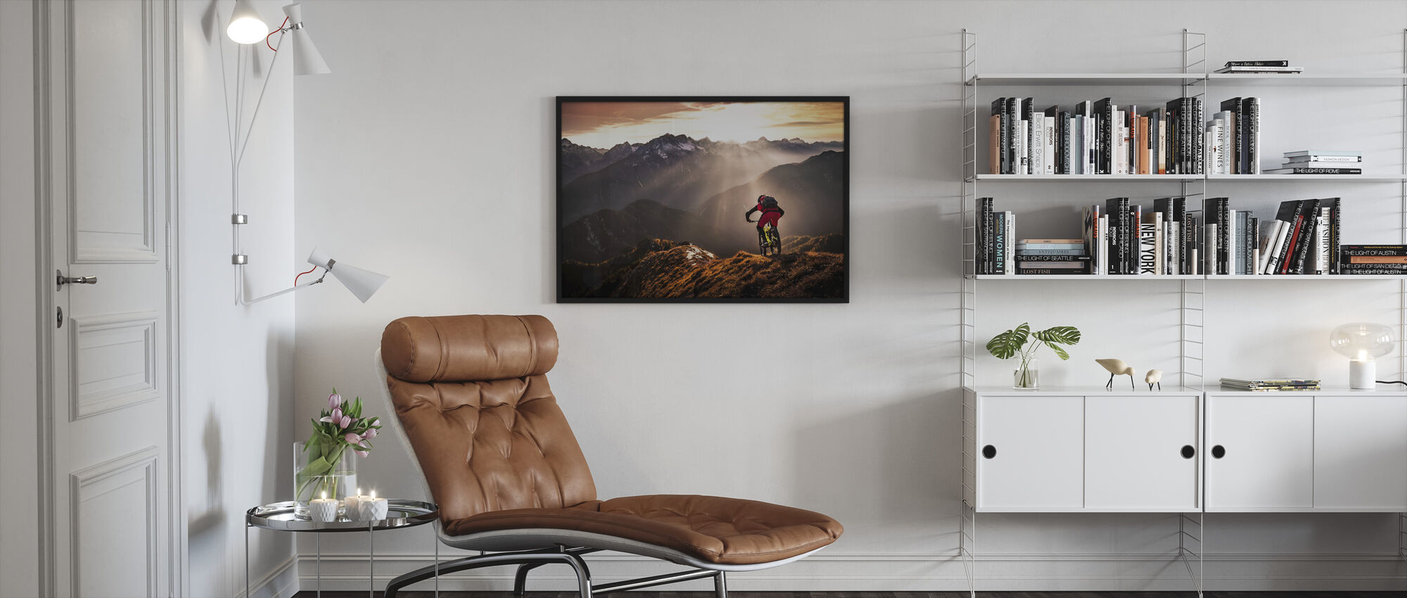 Just Ride - Framed print - Living Room