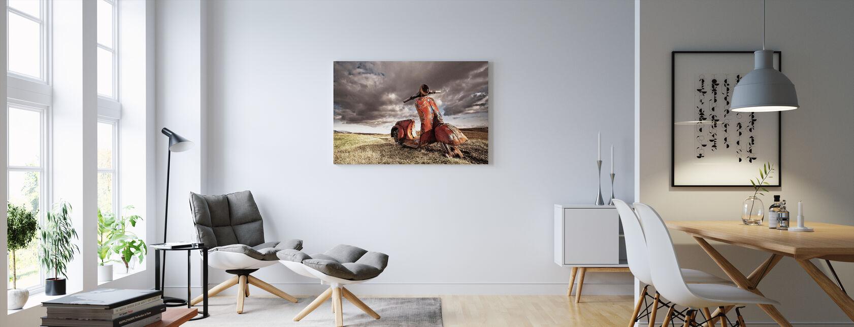 Vespa - Canvas print - Living Room