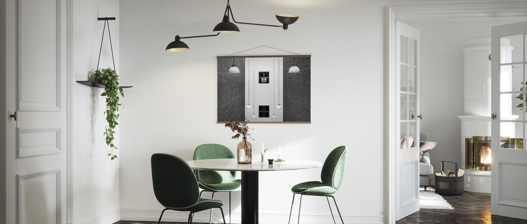 Arrangement of Lamps and Windows - Poster - Kitchen