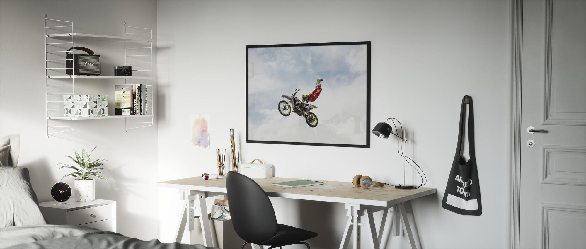 No Hands Superflyer - Framed print - Kids Room
