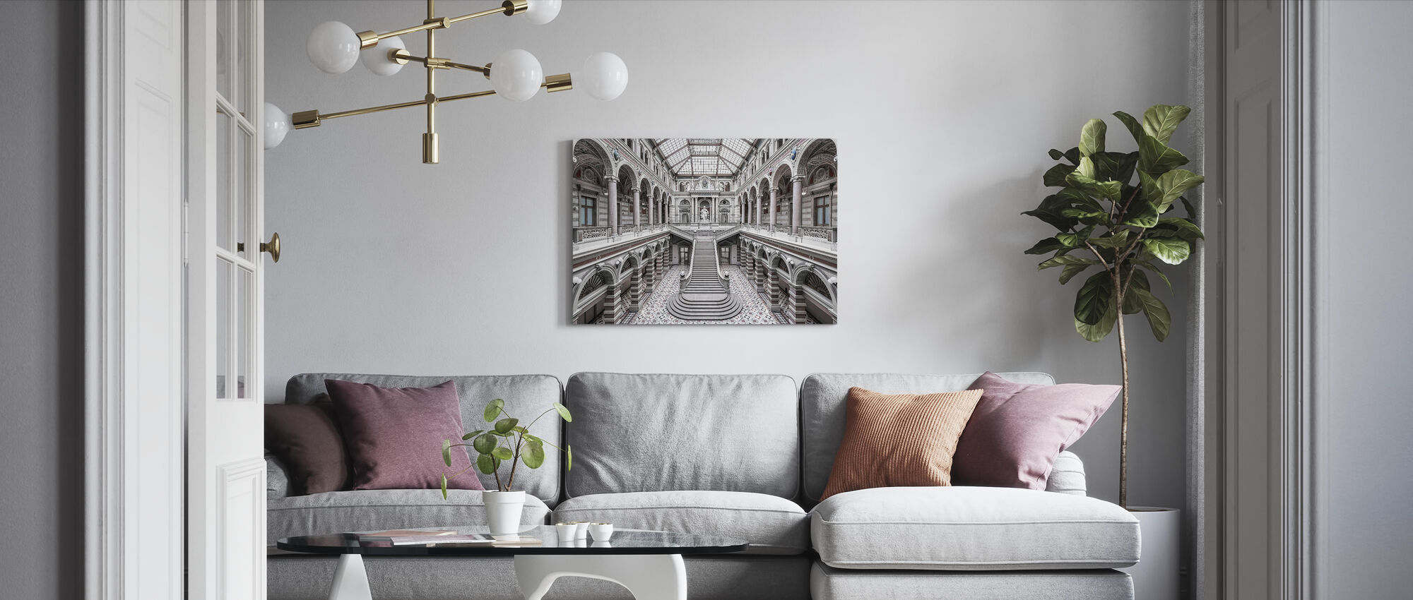 Palace of Justice - Vienna - Canvas print - Living Room
