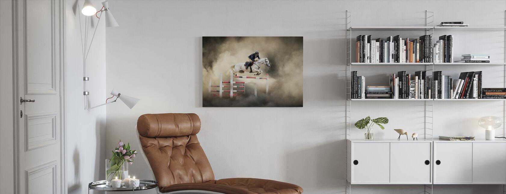 White Horse - Canvas print - Living Room