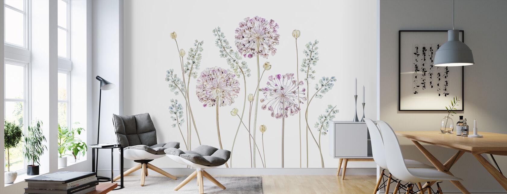Allium - Wallpaper - Living Room